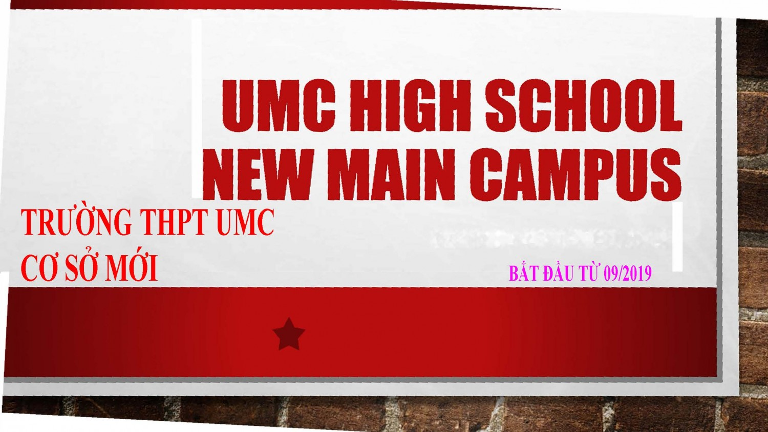 umc high school new campus ban dich page 1